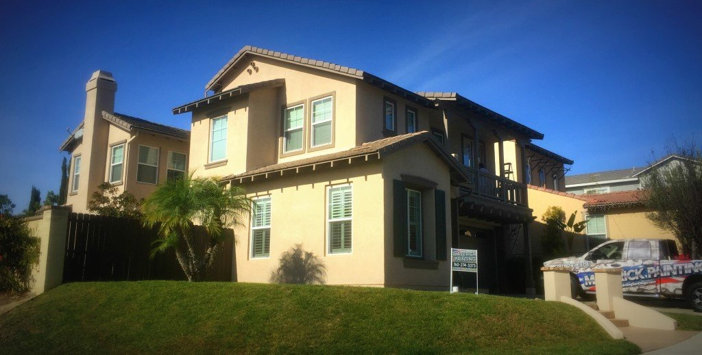 Painting Stucco On Exterior Frame House Contractor