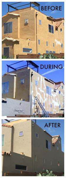San diego painting contractor project gallery ocean beach exterior for Exterior house paint before and after